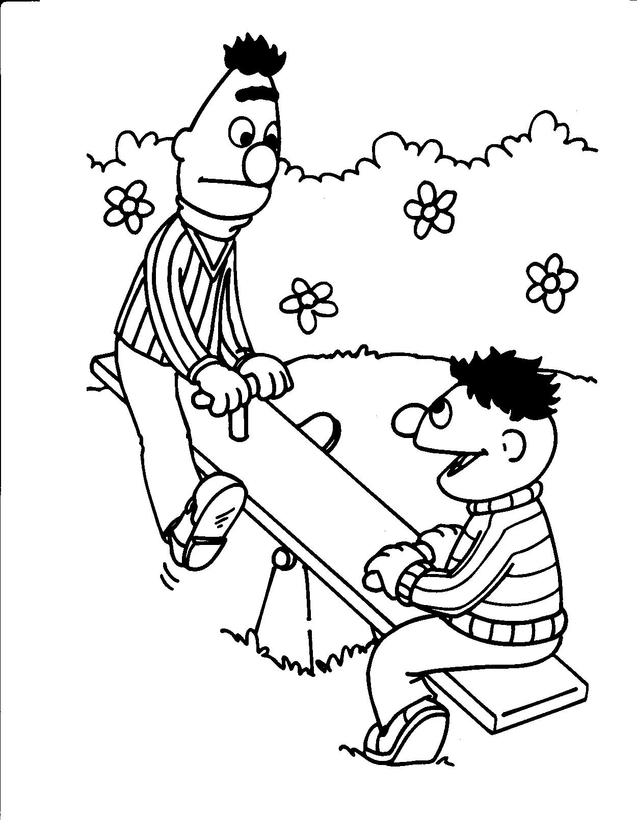 Kleurplaten Bert En Ernie Gratis Kleurplaten Van Bert En Ernie