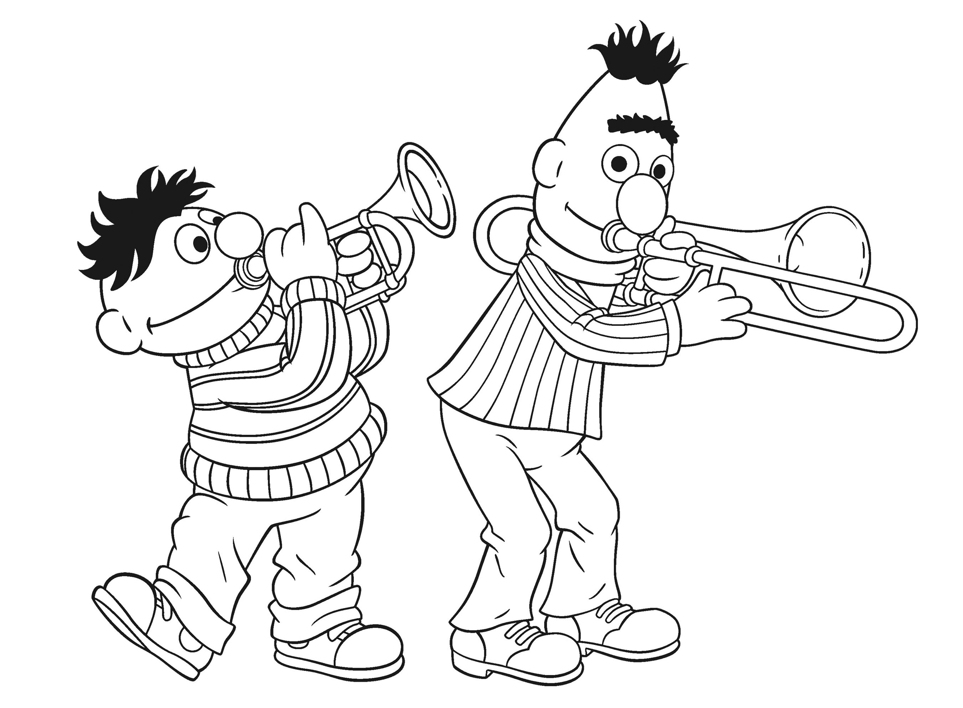 Het Beste Van Kerst Kleurplaten Bert En Ernie