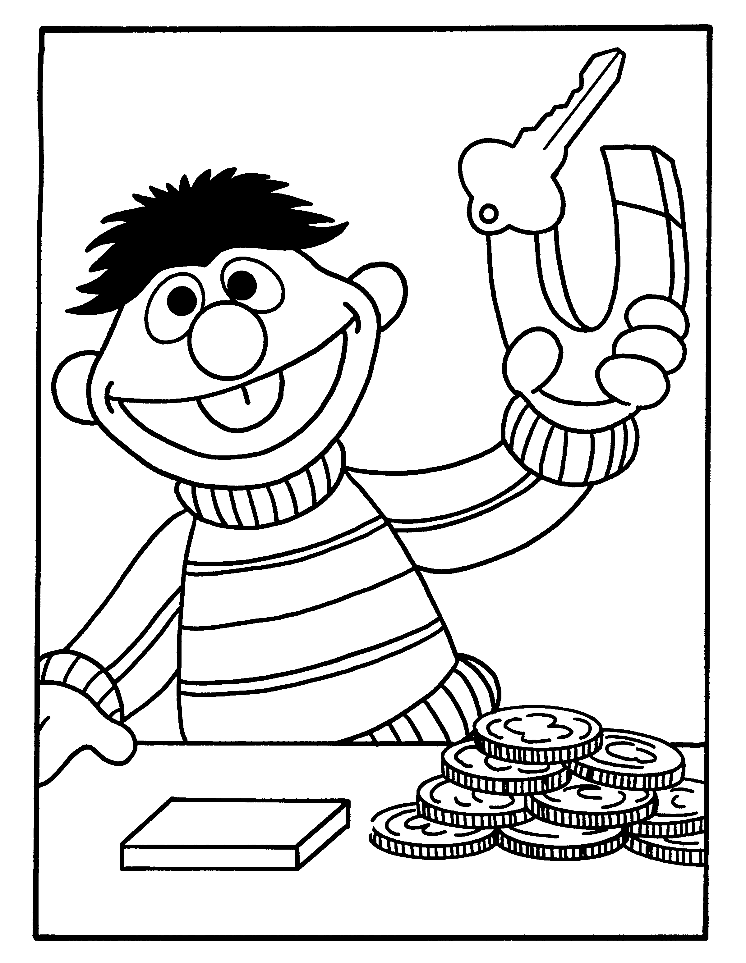 Kleurplaten Bert En Ernie Gratis Kleurplaten Van Bert En