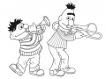 BertenErnie.nl-kleurplaten-Bert-en-Ernie-Spelen-Muziek
