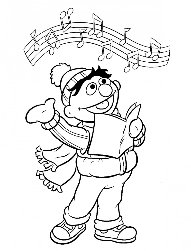 bert and ernie coloring pages-#12
